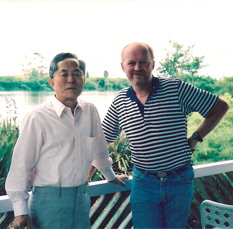 Peter Graham with General Choi